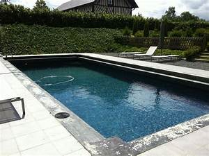 photo de piscines realisations dans le calvados With margelle piscine grise anthracite