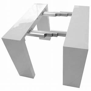 Console A Rallonge : table console extensible nassau xl blanche laqu e ~ Teatrodelosmanantiales.com Idées de Décoration