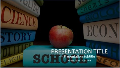 Powerpoint Template For Education by Free School Education Powerpoint Template 10334 Sagefox