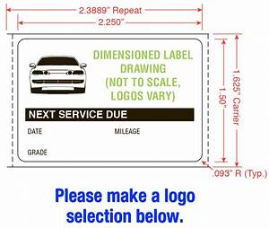 Oil Change Reminder Labels And Printers