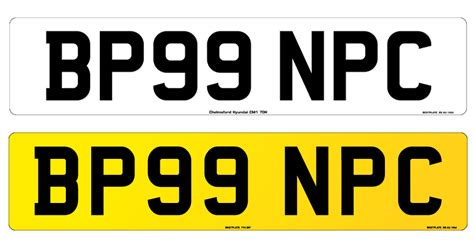 Number Plate Sizes & Styles
