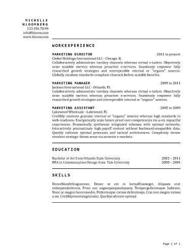 Chronological Resume Layout by Clean Traditional Layout Resume Template R 233 Sum 233 Paper