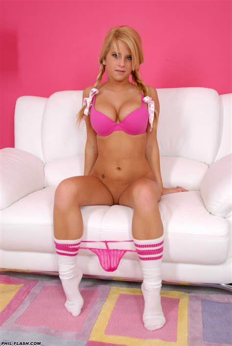 Next Door Tease - Makenzie Pink Tube Socks