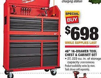 black friday tool cabinet deals home depot black friday milwaukee 46 quot 16 drawer tool