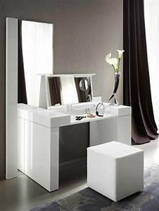 jolie coiffeuse avec miroir 40 idees pour choisir la With meuble salle de bain avec coiffeuse