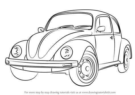 learn   draw vintage volkswagen beetle vintage step