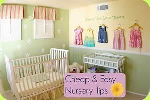 Cheap and Easy Nursery Tips Baby Room Ideas