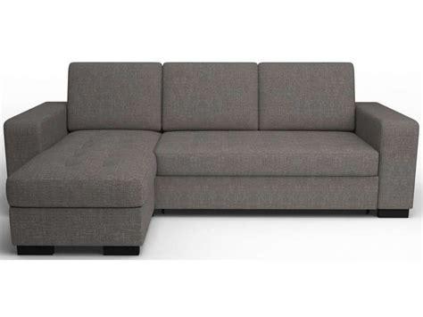 canapé lit 150 cm canapé d 39 angle convertible coloris gris