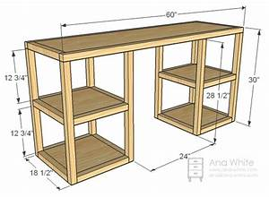 Ana White Parson Tower Desk - DIY Projects