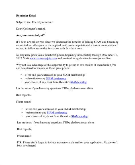 reminder email template 7 sle reminder emails pdf sle templates