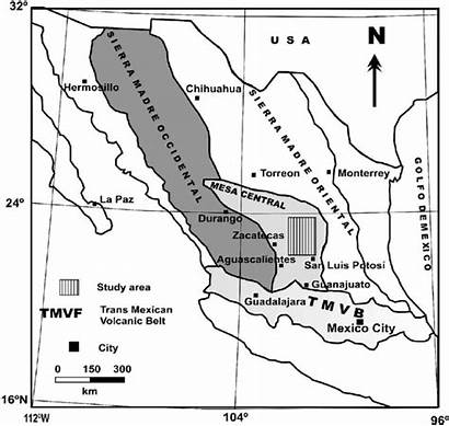 Madre Sierra Map Occidental Central Mesa Provinces