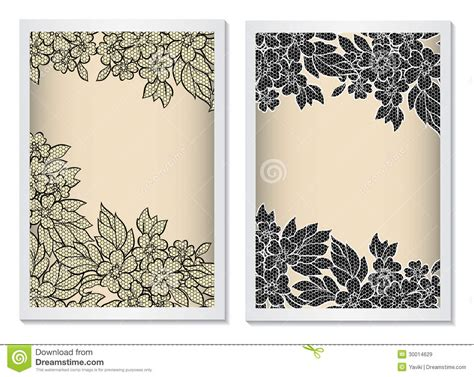 invitation card template vertical  lace stock vector