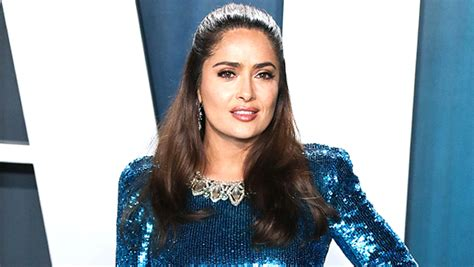 Salma Hayek Rocks Green Hair For Mexican Independence Day ...