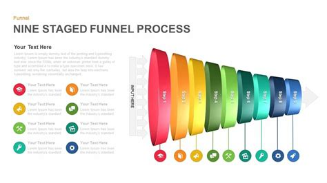 staged funnel process powerpoint template