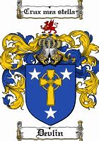 devlin coat  arms devlin family crest coat  arms