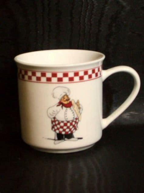fat italian chef coffee mugs chefs kitchen decor