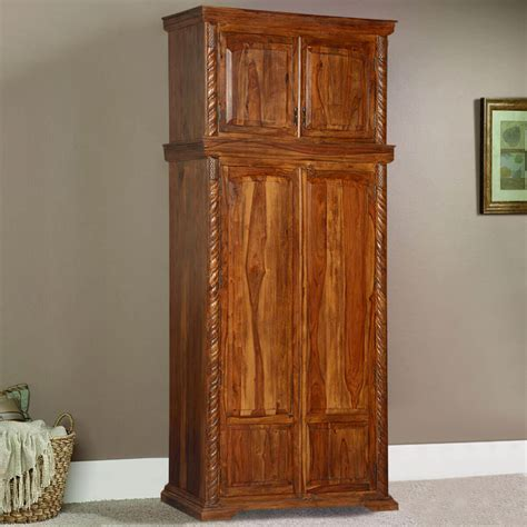 Wood Armoire by Empire Classic Solid Wood Wardrobe Cabinet Armoire