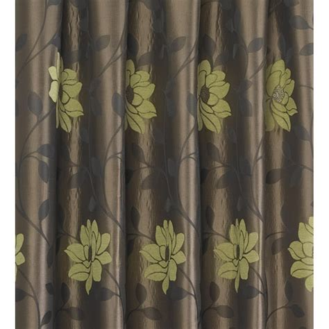 sundour carnaby lime floral pencil pleat ready made