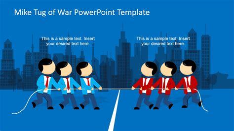 mike tug  war powerpoint template slidemodel