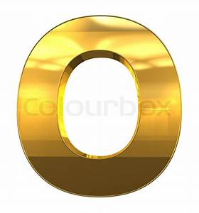 letter o from gold with gold frame alphabet set isolated With gold letter o