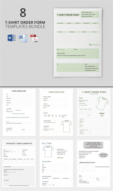 freebie   day  shirt order form templates
