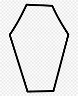 Coffin Coloring Clipart Pinclipart sketch template