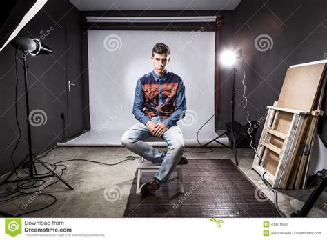 12919 photography style boy in studio photoshoot stock photo image 41401630