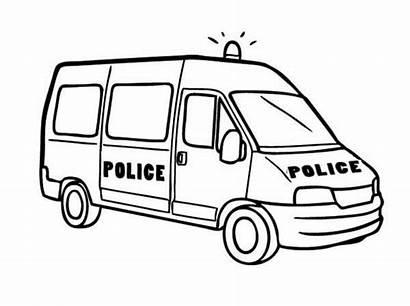 Coloring Police Van Pages Drawing Printable Cop