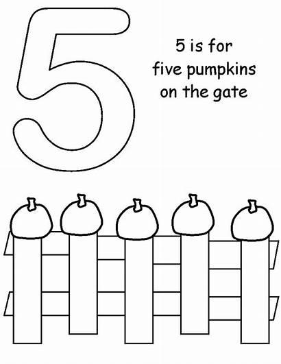 Pumpkins Coloring Five Pages Pumpkin Clipart Template