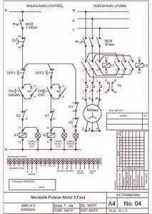 Job Sheet Praktek Instalasi Motor Listrik Tema   Membalik Putaran Motor Listrik 3 Fasa