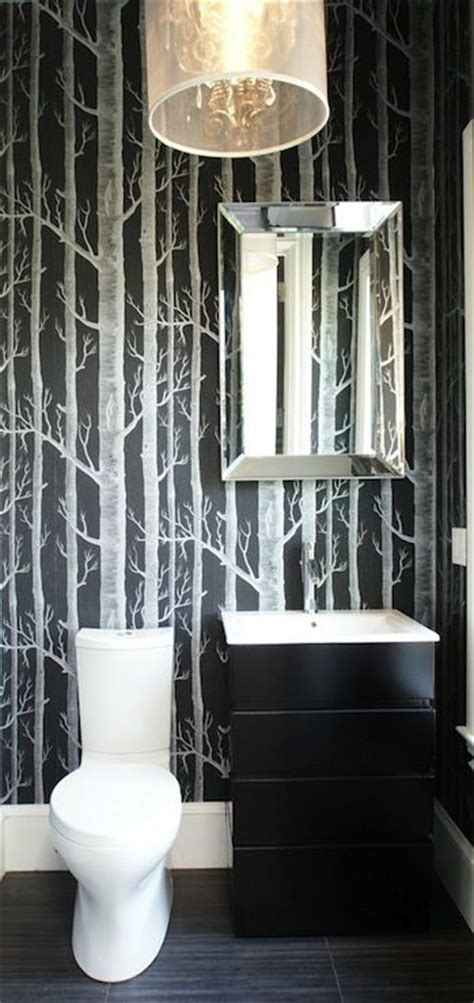 How To Get Bathroom Wallpaper by Wallpapers Bathroom And Powder Rooms On
