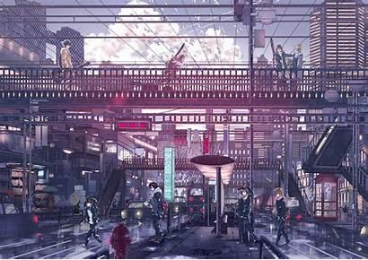 Rain Japan Anime Wallpapers Bridge Backgrounds Phone