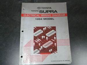 1994 Toyota Supra Hatchback Electrical Wiring Diagrams