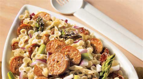 salade de farfalles et saucisses recettes iga p 226 tes vinaigrette recette facile