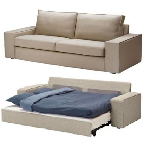 new ikea kivik sofa bed cover slipcover ingebo light beige
