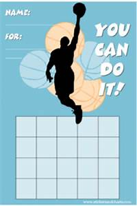 Basketball Charts For Kids Sports Reward Charts