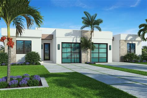 modern multi family structure   units bw architectural designs house plans