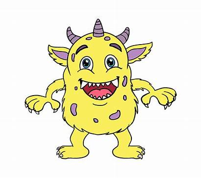 Monster Cartoon Draw Drawing Easy Drawings Scary