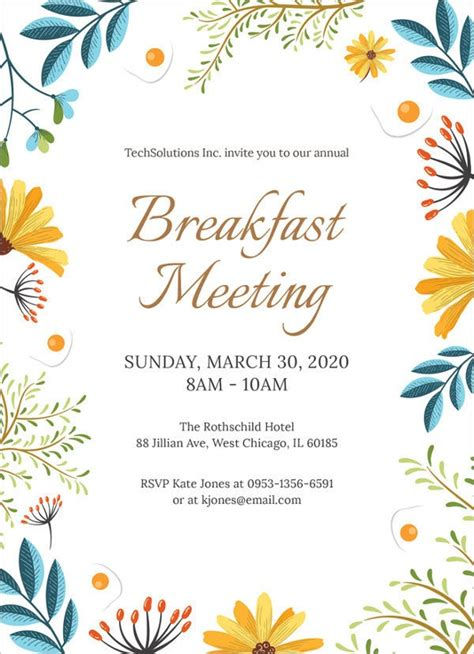 meeting invitation templates  sample