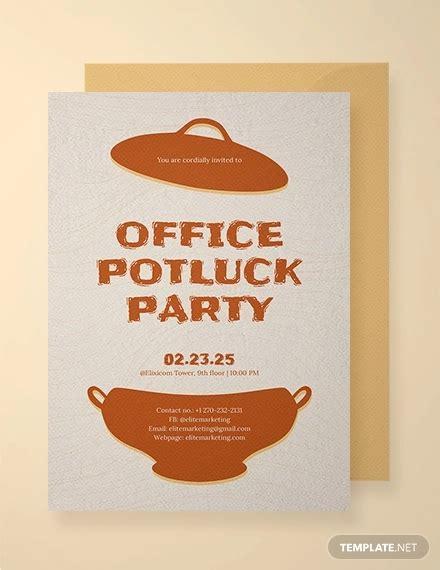 awesome potluck invitation designs  psd ai
