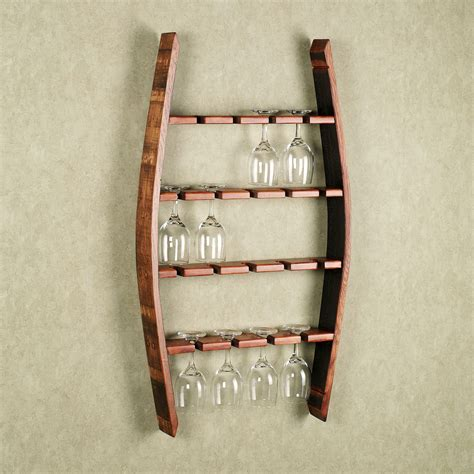 Kitchen Christmas Ideas - reese wine glass wall rack