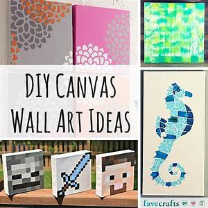Diy canvas wall art ideas favecrafts