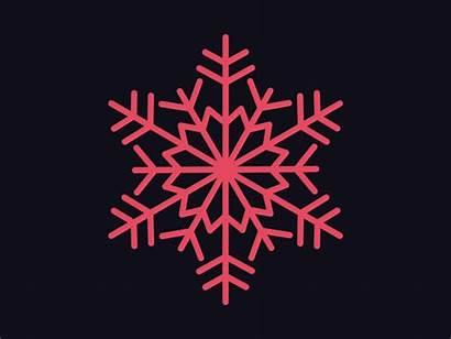 Snowflake Dribbble Animation Winter Snow Enjoy Simple