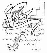 Coloring Pages Boats Transportation Ships Boat Ship Printable Worksheet Preschool Ones Worksheets Air sketch template