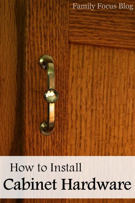 How to Install Cabinet Hardware   Family Focus Blog