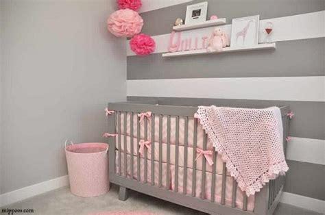 chambre bebe decoration deco chambre bebe fille gris