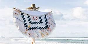 Serviette De Plage Ronde Eponge : diy serviette de plage ronde marie claire ~ Teatrodelosmanantiales.com Idées de Décoration