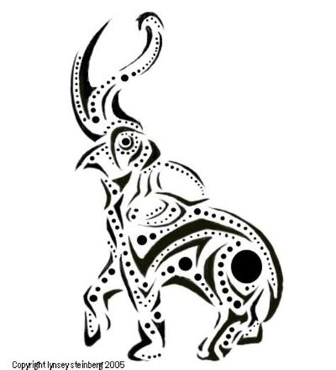 elephant stencil trunk up 9 elephant tribal designs and pictures