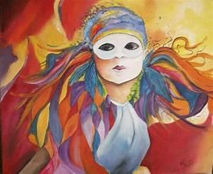Masque Pour Peinture : masque de venise peinture a l huile de marie c d ~ Edinachiropracticcenter.com Idées de Décoration