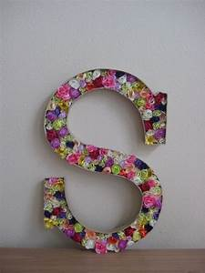 diy letter cardboard letter cut away the top fill with With large floral foam letters